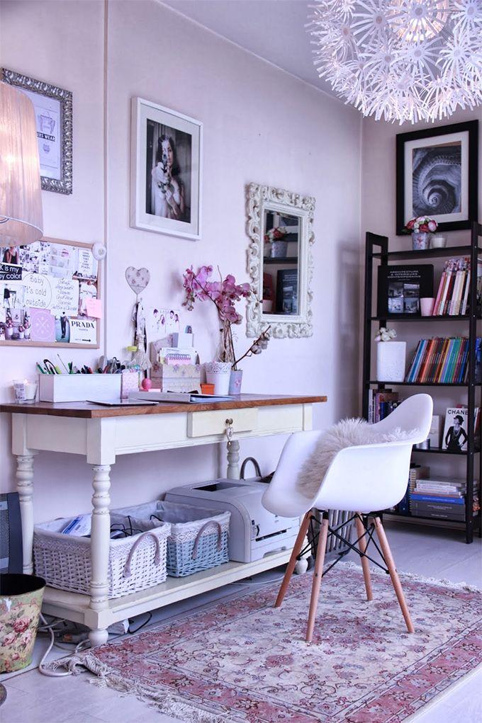 Home office em estilo Shabby Chic - Casinha Arrumada