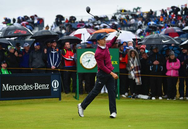 Jordan Spieth Photos Photos - Jordan Spieth of the United States hits his tee shot on the 15th hole during the second round of the 146th Open Championship at Royal Birkdale on July 21, 2017 in Southport, England. - 146th Open Championship - Day Two