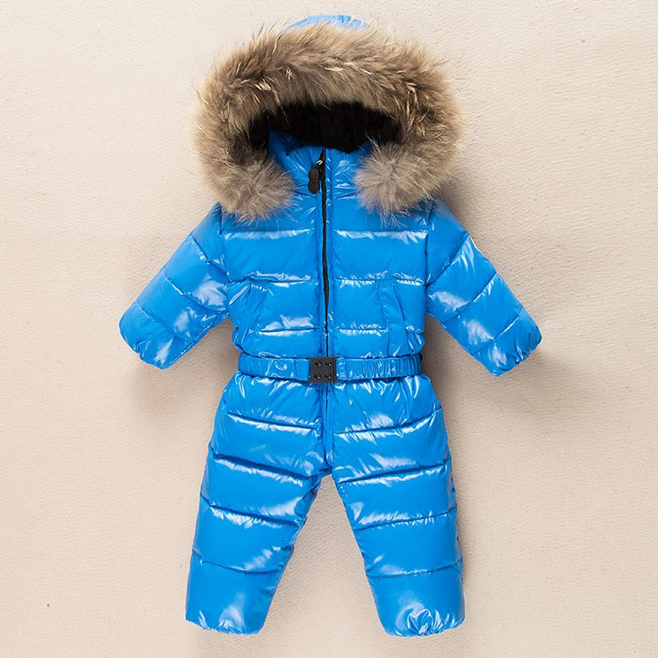 2016 infant snowsuit winter coat baby girls down jacket white down outwear baby jumpsuit overalls winter clothes for babies