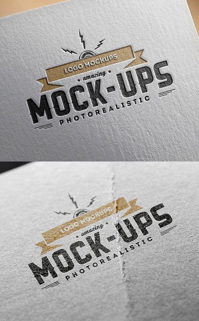 Logo Mockups Paper Edition Omahpsd Free Logo Mockup Free Logo Mockup Psd Logo Mockup
