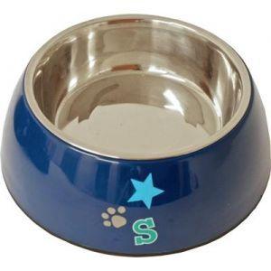 Lief! Voerbak RVS Boys Blauw 18 cm  Description: Lief! voerbak voor stoere honden Lief eet- en drinkbak voor honden. De bak is van Rvs en plastic en donkerblauw van kleur. De binnenkant van de bak bestaat uit een RVS bakje dat vaatwasser bestendig is. De voerbak heeft een kleine print in het midden van een pootje ster en de letter?S.  Price: 11.95  Meer informatie  #huisdier