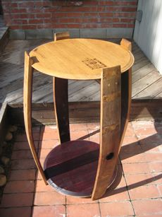 Open Barrel Pub Table | Wine Cask Creations
