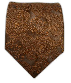 Monochromatic paisleys over a rich silk twill.