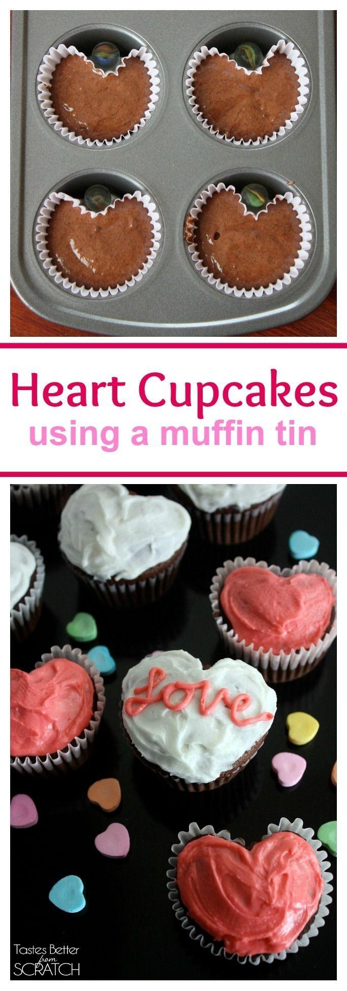 Heart Cupcakes | #cupcakes #heart