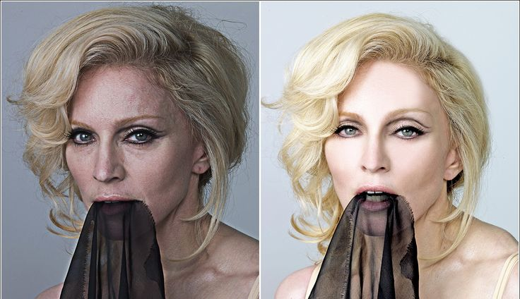 The Reality of Celebrity Photoshop: Before and After