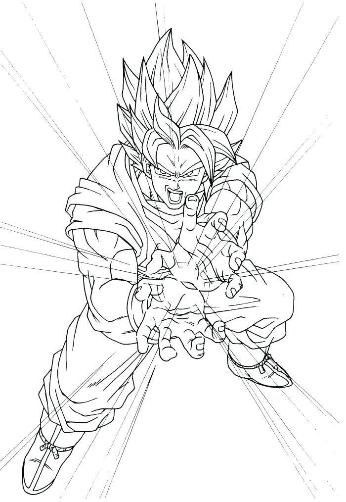 Coloring Pages Of Goku Super Saiyan God Fighting In 2020 Dragon Ball Image Dragon Ball Goku Dragon Ball Art