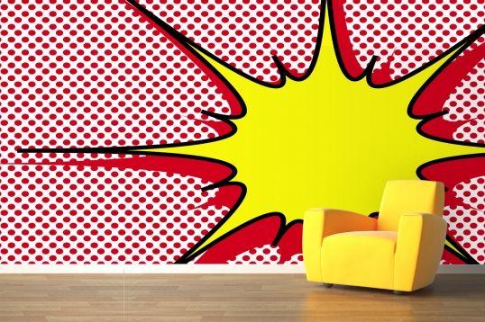 Lichtenstein inspired wall murals that make your interiors pop.