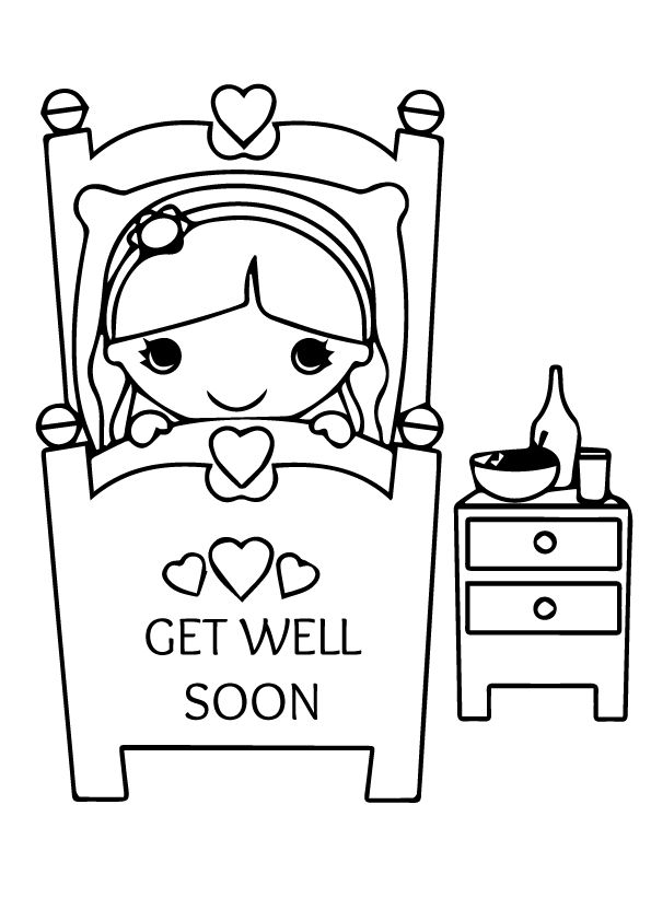 Religous get well coloring cards printable coloring pages for Get well soon card coloring pages