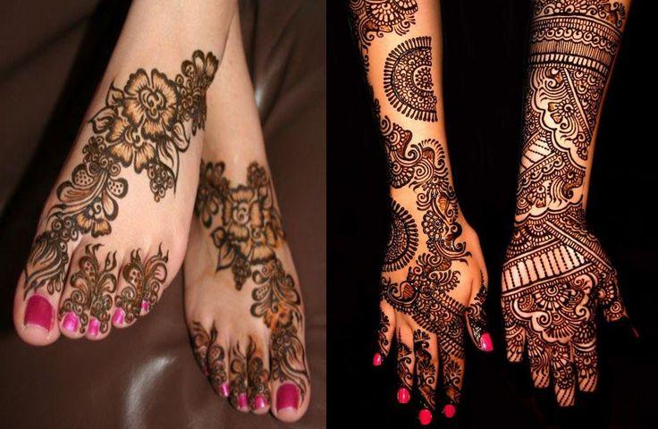 Mehndi For Right Hand Back Side : Mehndi design back side full hand makedes