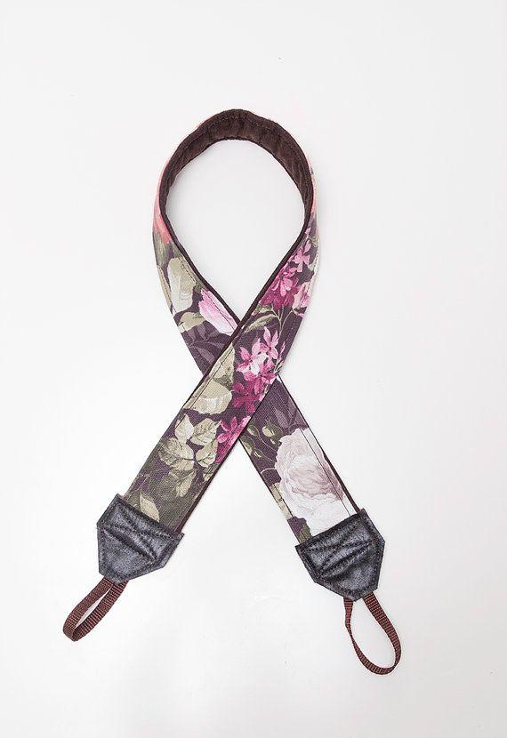 floral camera strap by ewelinapolandastraps on Etsy