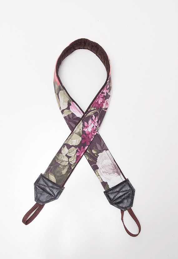 floral camera strap by ewelinapolandastraps on Etsy