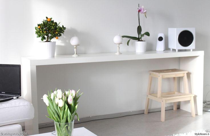 ikea,malm,olohuone,valkoinen,minimalistinen