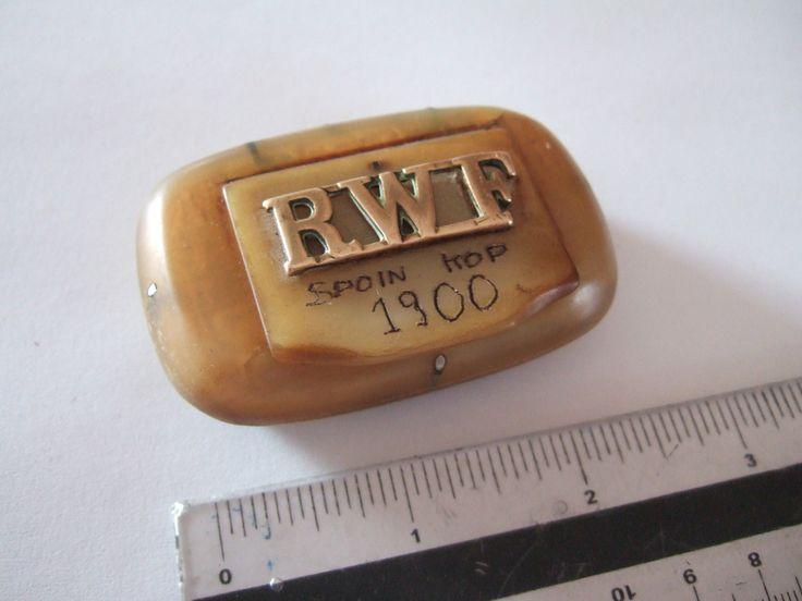Boer War Bone Snuff Box 1900.