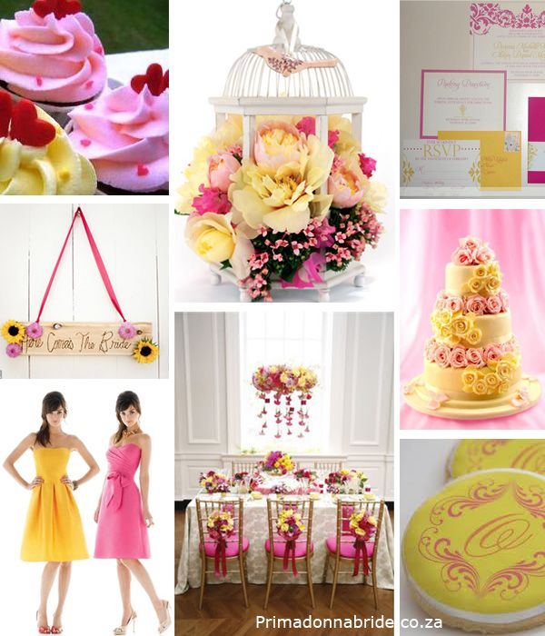 Pink & Yellow Wedding Ideas