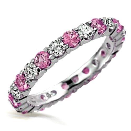 pink diamond eternity ring | style. | Pinterest
