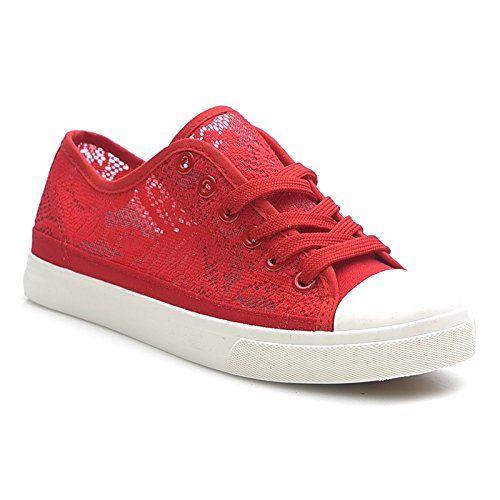 Kayla shoes Damen Turnschuhe mit Spitze Sneaker BB-1637 Red 41 - http://on-line-kaufen.de/kayla-shoes/41-eu-kayla-shoes-damen-turnschuhe-mit-spitze-4