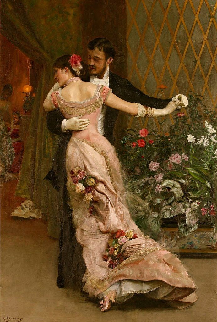 LARGE SIZE PAINTINGS: Rogelio DE EGUSQUIZA (1845-1915) The End of the Ball