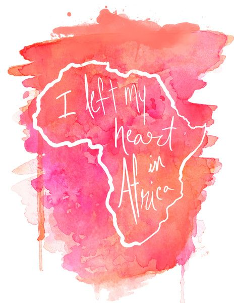 I Left My Heart In Africa -- PINK Art Print