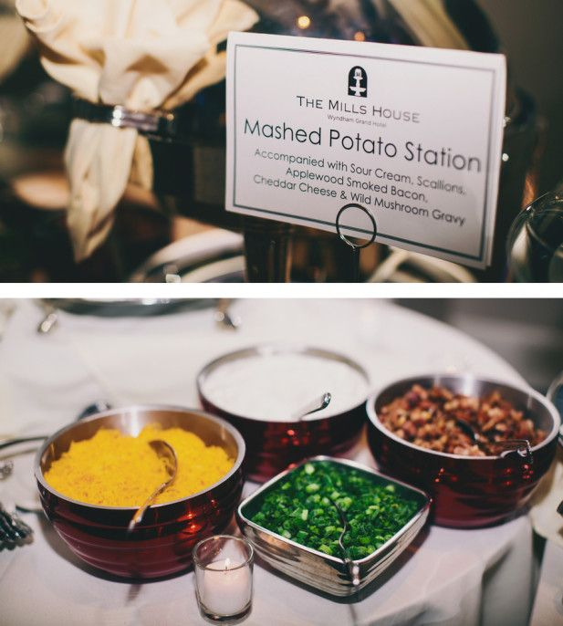 Wedding food bar ideas: A mashed potato station