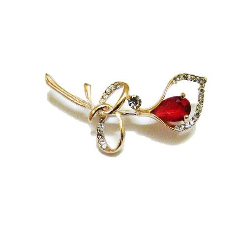 Stem Bud Brooch Red – Pink Hippo Store