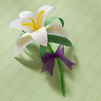 Paper Lily Craft to do after we read 'The Parable of the Lily'