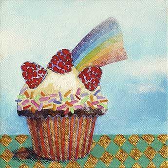 """""""Somewhere over the rainbow"""" acrylic by Syd Tunn ©"""