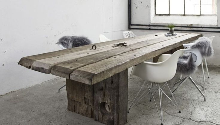THORS Uniq table made from reclaimed antique wood #longtable #uniquefurniture #antiquewood