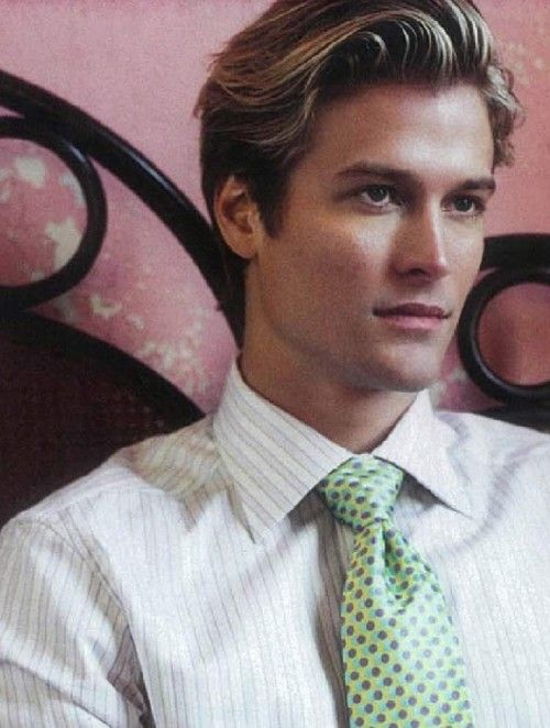 Where can you see a catalog of medium-length hairstyles for men?