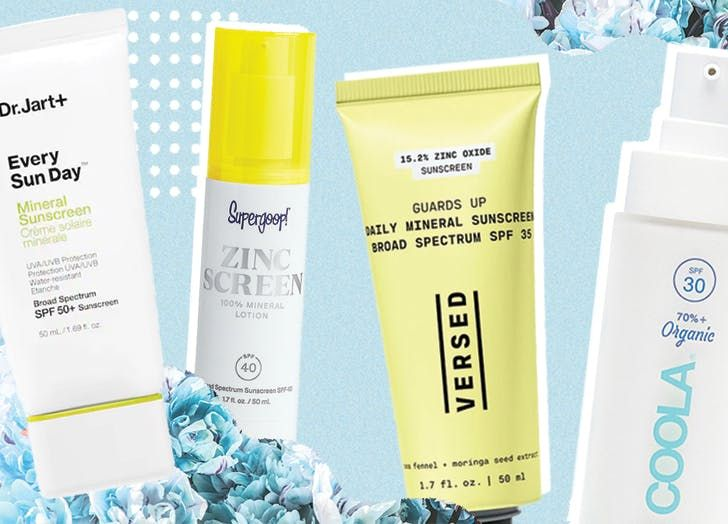 The 14 Best Zinc Oxide Sunscreens That Won T Leave A White Cast In 2020 Zinc Oxide Sunscreen Sunscreen Mineral Sunscreen