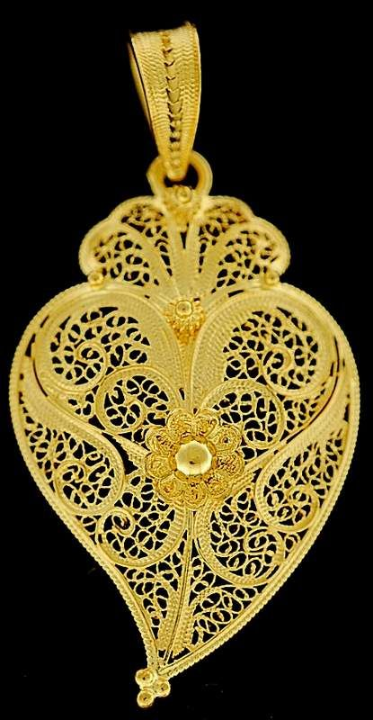 Filigree art - Coração de Viana do Castelo - Portugal , Handmade with gold or silver