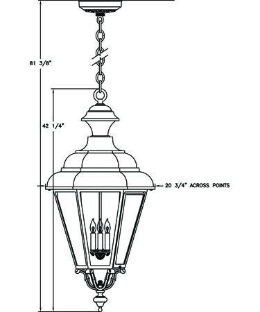 42H 20W $1097 Hanover Lantern B30820 Jamestown X-Large 4 Light Outdoor Hanging Lantern  sc 1 st  Pinterest & 30 best Home - Outdoor Lighting images on Pinterest | Outdoor ... azcodes.com