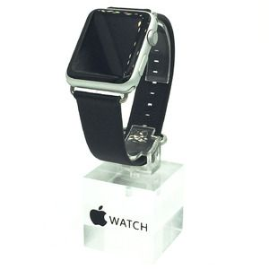 42mm Apple Watch Leather Replacement Band in Black
