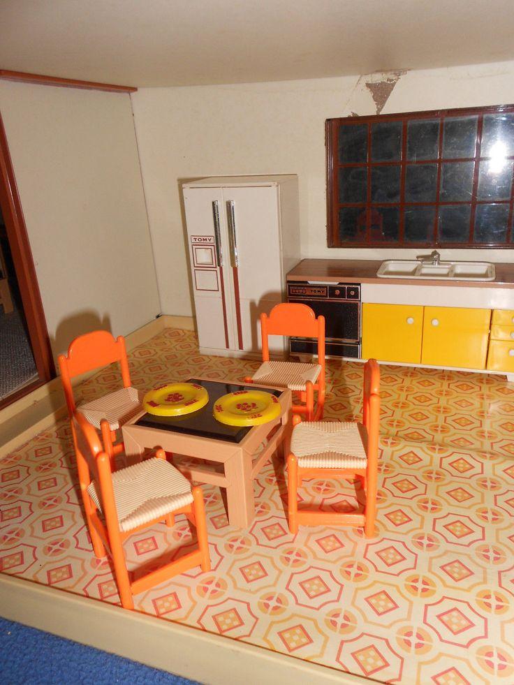 Vintage Dollhouse Tomy Smaller Homes Dollhouse Family Furniture | EBay