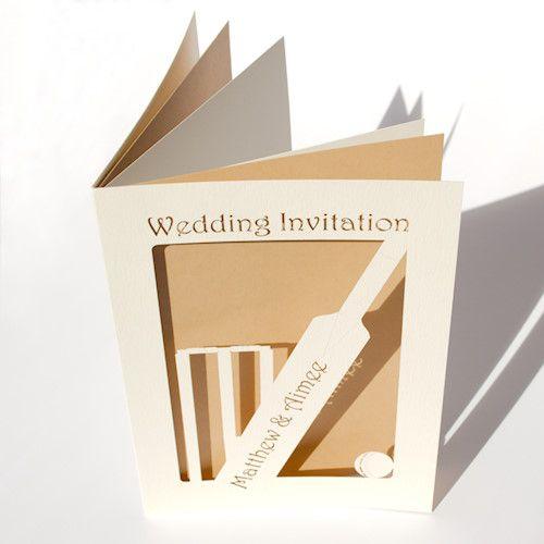 Howzat! A5 Cricket Wedding Invitation Card