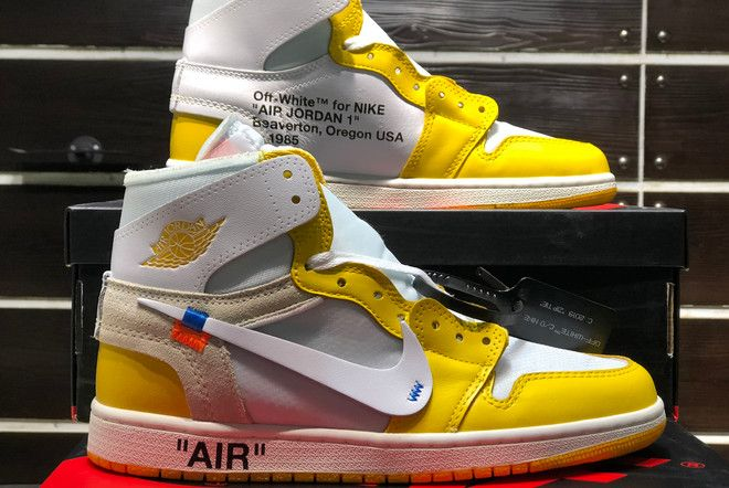 All New Off White X Air Jordan 1 Nrg White Yellow Aq0818 149 Air