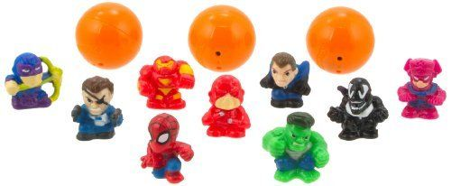 """Blip Squinkies Marvel Bubble Pack - Series 5 - Good vs. Evil by Squinkies. $8.95. 100's of squinkies to collect. Collect them all. All your favorite marvel characters as squinkies. Each bubble pack includes 12 different squinkies. Squinkies - the hottest toy around. From the Manufacturer                New squinkies bubble packs for boys featuring your favorite characters from Marvel Universe. Squinkies are squishy, squashy 1"""" collectible figures that come in their very own b..."""