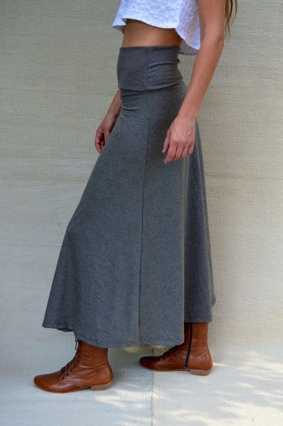 Maxi Rock lang hohe Taille Maxi Rock A-Linie von AlexWomenCreations