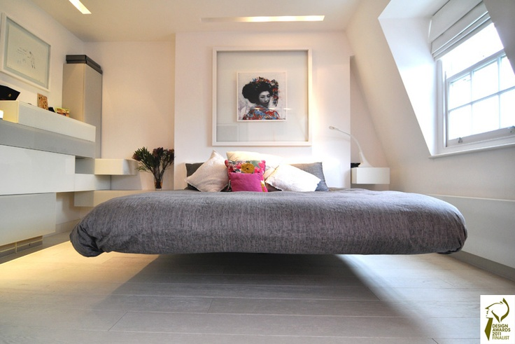 Floating Platform Bed By Kia Designs   U003e Con Una De Estas Nunca Mas Nos