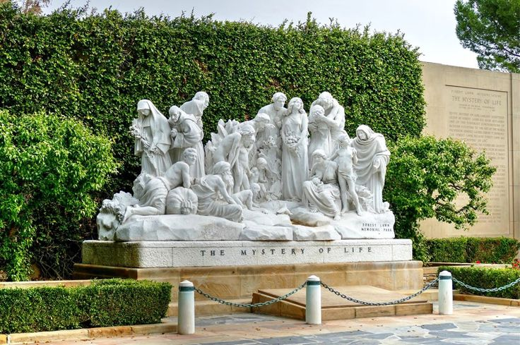 "More art in the cemetery.  Ernesto Gazzeri's ""The Mystery of Life."" Forest Lawn Memorial Park, Glendale. January 2017. #travel #traveller #travelphotography #glendale #losangeles #california #forestlawnmemorialpark http://tipsrazzi.com/ipost/1521182258810571954/?code=BUcUzRvB8yy"
