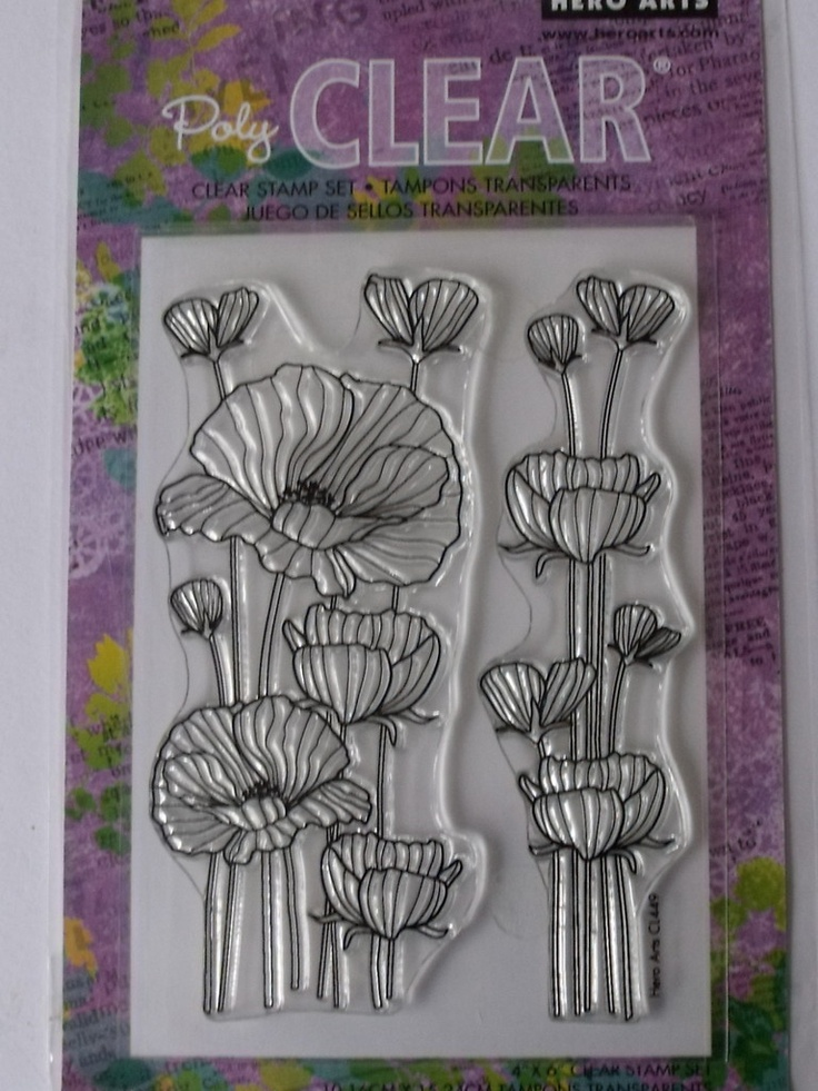 Hero Arts Clear Stamps Delicate Blossoms Tall Delicate
