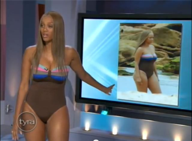 Tyra Banks wore the same bathing suit she was photographed in on her show!