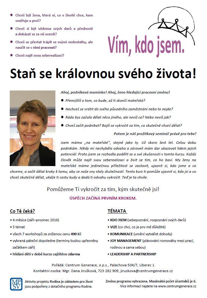 Oblíbený workshop Vím, kdo jsem!   Centrum Generace, o.p.s.
