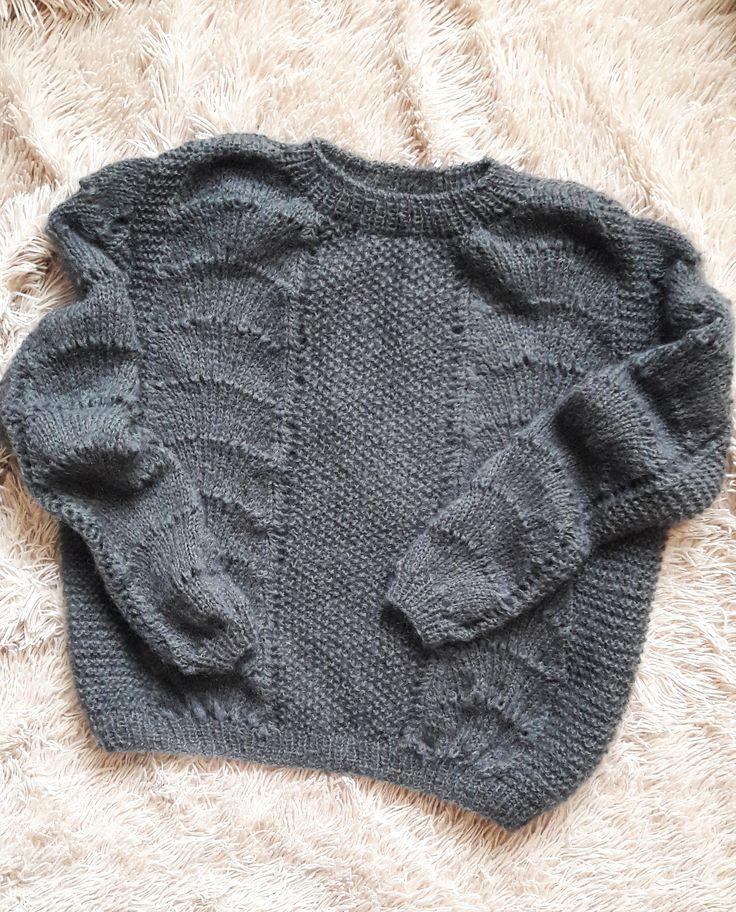 merino wool womens sweaters - grey merino wool sweater - grey sweater for women - mohair and merino sweater - grey mohair sweater