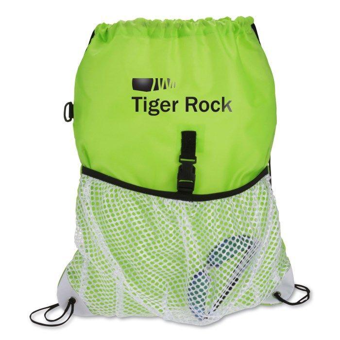 6 Colors Drawstring Bag Mesh Pocket Drawstring pack Men Portable Lightweight Backpack Casual Bags Vkystar 337