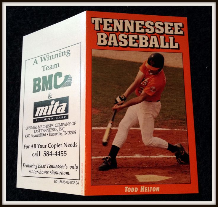 1994 TENNESSEE VOLS ROCKIES MENS BASEBALL POCKET SCHEDULE TODD HELTON ON COVER #Pocket #Schedule
