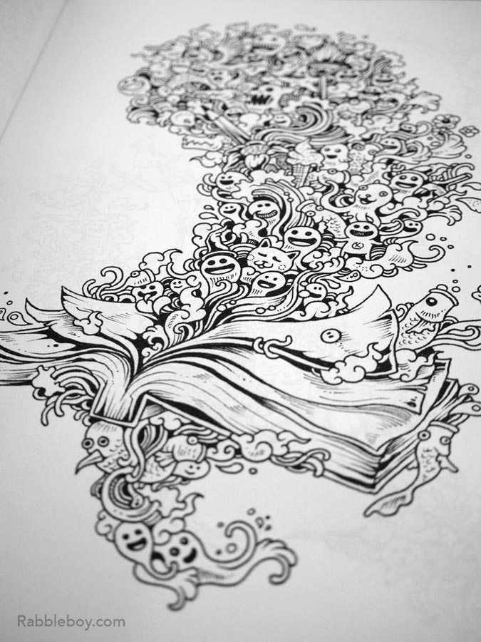 Doodle Invasion A Crazy Coloring Book By Kerby Rosanes Adult