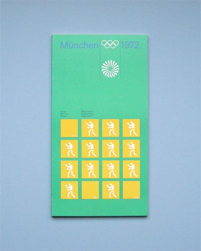 Flyer Goodness: 1972 Munich Olympics Brochures & Leaflets Designed by Otl…