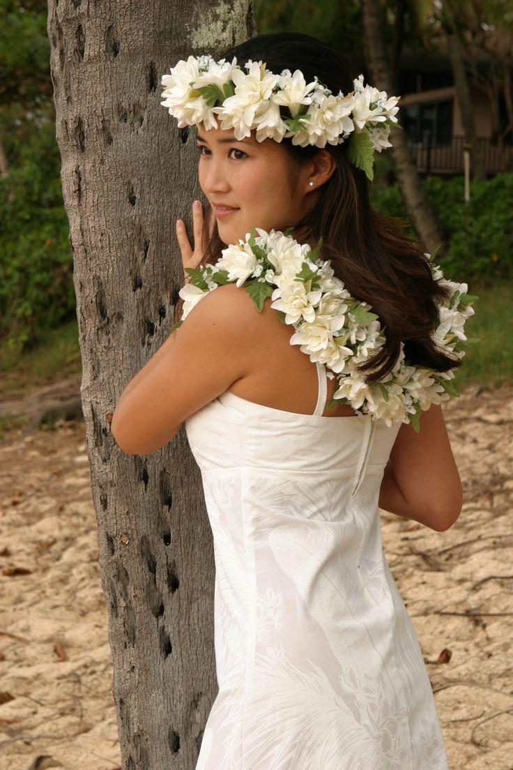 bright and colorful hawaiian wedding dressesluau