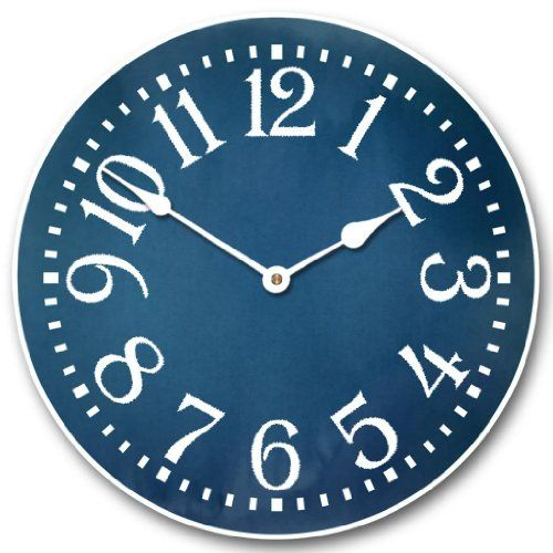 Colonial Blue Wall Clock, Available in 8 sizes, Whisper Quiet, non-ticking Blue wall art is a sophisticated and trendy way to deck the walls of your home. Blue wall art makes your home feel harmonious, peaceful and relaxing. However blue wall art can also create a bold first impression .