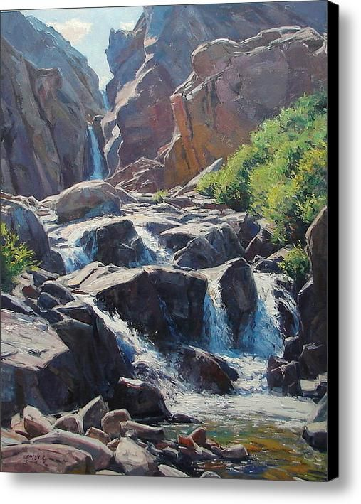 Mountain Falls Canvas Print / Canvas Art By Taylor Lynde